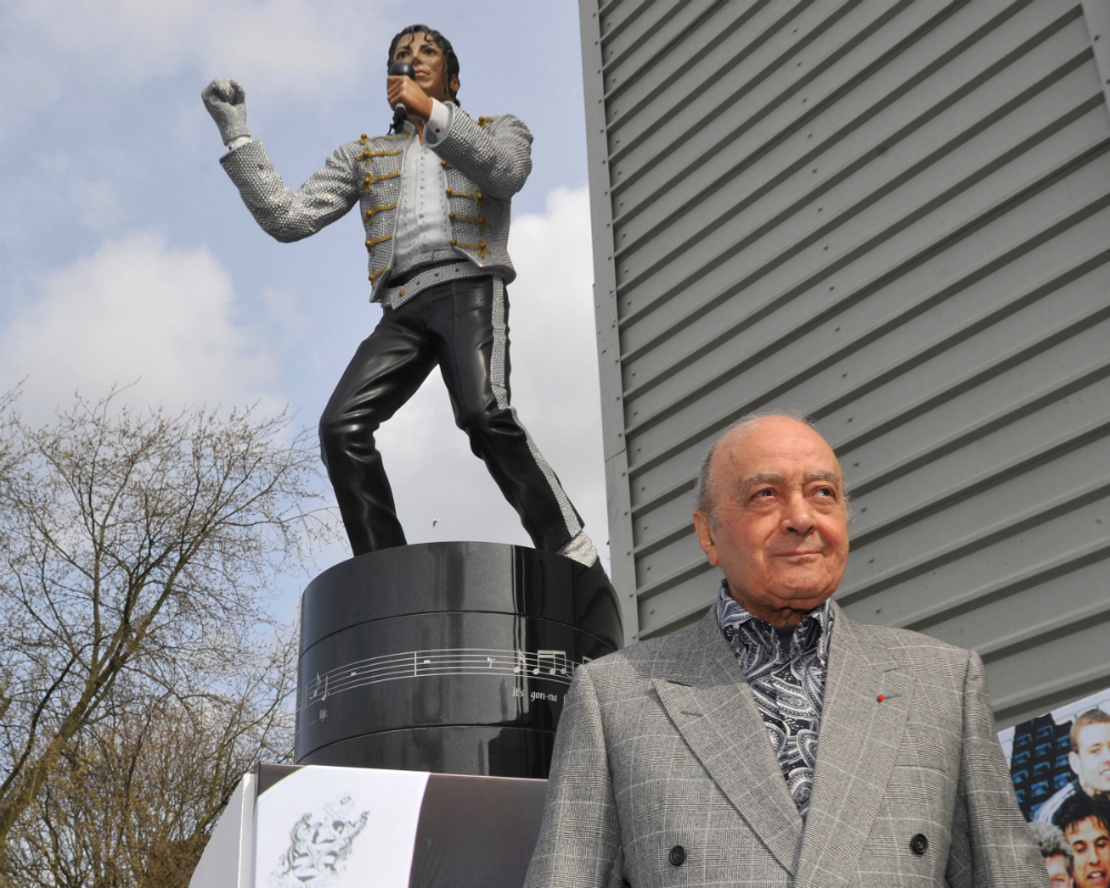 Al Fayed MJ Statue