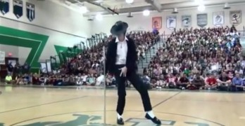 Brett Nichols Dances To Billie Jean During Talent Show