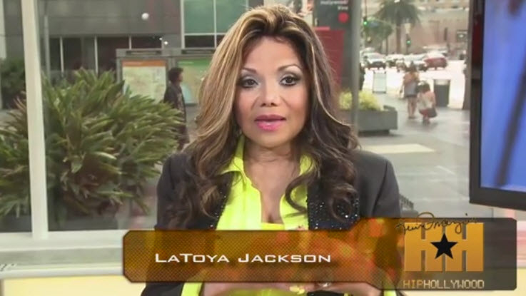 LaToya Jackson and Chris Brown