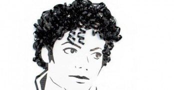 Michael Jackson Art Made From Recycled Cassette Tapes