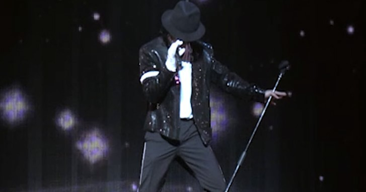 Michael Jackson During Auckland Thriller Live