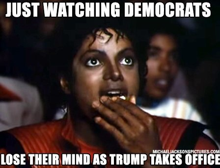 Just watching democrats lose their mind as Trump takes office