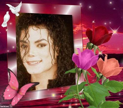 MJ Valentine Day card in picture frame